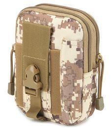 Venta al por mayor de Bolsa multiusos de herramientas de polietileno con bolsa EDC Bolsa de camuflaje Nylon militar Utilidad táctica Paquete de cintura Senderismo para acampar