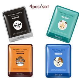 Face Sheet Pack NZ - Brand Skin Care Sheep Panda Dog Tiger Packing Facial Mask 30g*4pcs Moisturizing Oil Control Cute Animal Face Masks