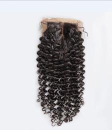 Brown Human Hair Deep Wave Closures UK - 8A High Quality Brazilian 4*4 Silk Base Lace Closure Body Wave Deep Curly 100% Unprocessed Full Soft Human Hair Closure Free Shipping Fee
