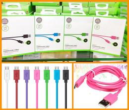 Venta al por mayor de Para sincronización de fecha Cable USB 1.2M 4FT Cargador de alta velocidad para Samsung S7 S6 edge Plus S4 Note 2 4 5 6 con paquete minorista High Qualtiy