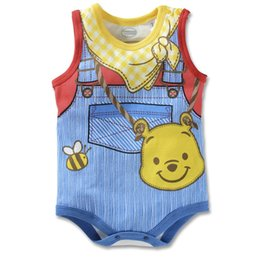 Chinese  Poor Baby Clothes 2016 Summer Newborn Tops Baby Boys Bodysuits Jumpsuits Character Costumes One-Piece Clothes 120pcs lot manufacturers