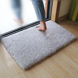 High Quality Bath Mat Anti Slip Living Room Carpet Bed Room Bed Side Foot  Mat Bath Room Shower Mat 2 Colors Toilet Rug Carpet