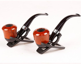 $enCountryForm.capitalKeyWord Australia - Wood Color Smoking Tobacco Herbal Pipes 13.5cm Metal & Acrylic Materia Gift Bag Pipes For Smoking Tools Accessories