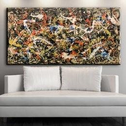 2016 nummer 5 1948 Джексон Поллок фреска изображение лист 70x90 см Главная декоративно-прикладного искусства краска на холсте