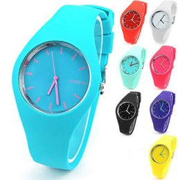 Glasses Trade Australia - Foreign trade selling watches fashion watches slim Geneva GENEVA Ms. silicone jelly watch Wholesale Hot Silicone Watch Students
