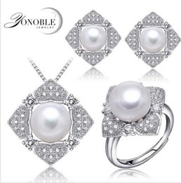 Discount easter gifts for wife 2018 easter gifts for wife on wedding jewelry pearl sets pink for womenreal natural bridal jewelry sets 925 sterling silver wife anniversary birthday gift affordable easter gifts for negle Images