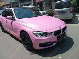 Pink Glitter Vinyl Canada - Car Styling Wrap Matt Glitter Pink Car Vinyl film Body Sticker Car Wrap With Air Free Bubble For Vehiche 1.52*20M  Roll KF-F1029