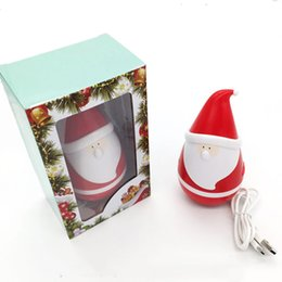portable kids mp3 speakers UK - New Arrival Santa Claus Speaker Christmas Father Tumbler Roly-poly Mini Wireless Bluetooth Speakers Kids Christmas Toy 50pcs