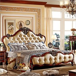 $enCountryForm.capitalKeyWord Canada - hot selling modern european solid wood bed Fashion Carved 1.8 m bed french bedroom furniture 96325