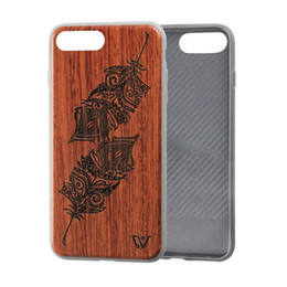 $enCountryForm.capitalKeyWord UK - Newest Wood Carved Design Cover Premium Shock Absorption TPU Ultra Slim Wooden Cell Phone Case for iPhone X iPhone 8 i6 7 7plus