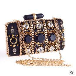 $enCountryForm.capitalKeyWord Canada - Women Handmade Chain Clutch Bags High Quality Lady Shoulder Bag Evening Bags 2016 Fashion Brand New Beautiful HuiLin KY20