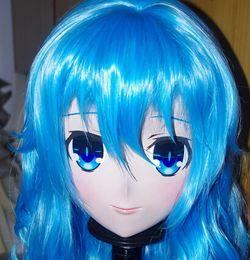 rubber crossdresser 2019 - (C2-041) Handmade Female Silicone Rubber Face Mask Cosplay Kigurumi Mask Crossdresser Doll Kigurumi Japanese KIG Anime R