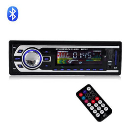 Car Radio Built Speaker Canada - New 12V Bluetooth Car Stereo FM Radio MP3 Audio Player Charger USB SD AUX Car Electronics Subwoofer In-Dash 1 DIN BT8027