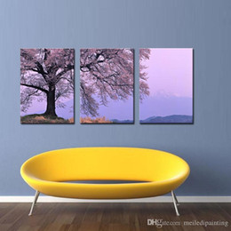 Impressionist Tree Paintings NZ - Modern Abstract Wall Art Painting On Canvas New Style NO Frame with The cherry tree landscape Wall Decor Art Canvas Picture Decor