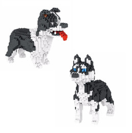 Dog christmas presents online shopping - Assembly Mini blocks Cute Dog Husky Model Small Building Bricks Collie Educational Kids Toys dachshund Christmas Present For Girls Gifts