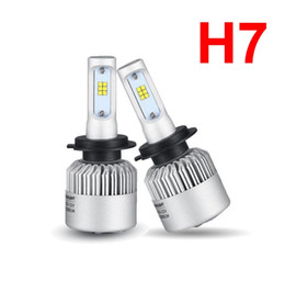 fog fan NZ - 1 Set S2 CSP LED Headlight H7 72W 8000LM Super Slim Conversion Kit Seoul Y19 All-in-one Built-in Fan White 6000K Driving Fog DRL Lamp Bulbs
