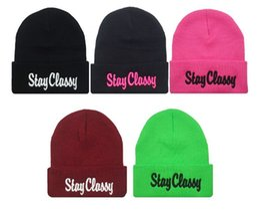 Discount beach head cap - STAY CLASSY Beanie fashion cap hat autumn and winter knitted hat skiing wool cap ouHeadgear Headdress Head Warmer Skiing
