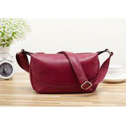$enCountryForm.capitalKeyWord Canada - New Fashion Women Tote Handbags Satchels Shoulder Bags For Female Small Crossbody Bags PU Leather Lady Red Messenger Bag