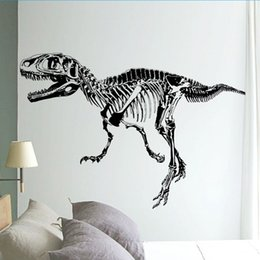 Wall Stickers For Boys Rooms Canada - Black T Rex Dinosaur Skeleton Wall Stick, DIY Wall Stickers Living Room Bedroom Adornment For Kids Boy Room HOME Decor