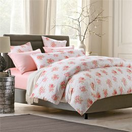 home egyptian cotton high quality 4pcs summer amorous feelings bedding sets queen king size duvet cover pink bed set