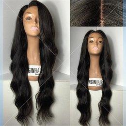 Virgin Indian U Part Wig Canada - 7A Grade U Part Human Hair Wigs For Black Women Brazilian Virgin Human Lace Front Wig 130 Density Full Lace Human Hair Wigs