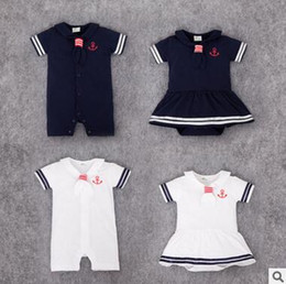$enCountryForm.capitalKeyWord Canada - Sailor Baby Onesies 2016 Summer Boys and Girls Body Bebe Striped Crew Baby Rompers Cotton Short Sleeve Baby Dress Toddle Infant Jumpsuit 347