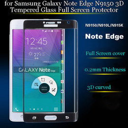 Galaxy Note Protectors Canada - 0.2MM 3D Curved Full Coverage Explosion-proof Tempered Glass Screen Protector Film For Samsung Galaxy Note 4 edge N9150