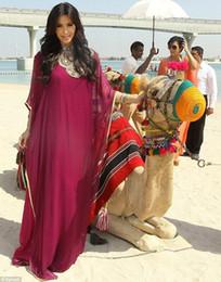 $enCountryForm.capitalKeyWord Canada - Luxury Beaded Chiffon Arabic Evening Dresses Dubai Kaftan Rhinestone Muslim Abaya Saudi Arabian Clothing Party Gowns Long Sleeve robe de