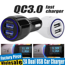 universal 12v charger for car 2018 - High Quality 9V 2A 12V 1.2A QC3.0 Fast Car Charge 3.1A Dual USB Fast Charging Phone Charger For Samsung Galaxy S8 Withou