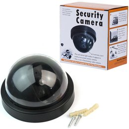 security camera packages NZ - Dome Dummy Camera Fake Home CCTV Security Camera Led Motion Detector Sensor Indoor Simulated Video Surveillance with Retail Package Free DHL