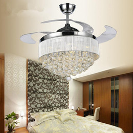 Discount Crystal Bedroom Ceiling Fans   2017 Bedroom Crystal ...