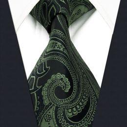 $enCountryForm.capitalKeyWord Canada - Y30 Deep green Paisley Silk Jacquard Woven Classic Fashion extra long size Men Necktie Tie