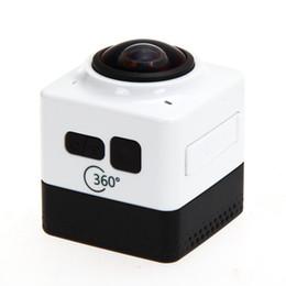 Toptan satış Freeshipping 360 Derece Görünüm 720 P 1024 P Panoramik WIFI Kablosuz HD Küp Spor DV Eylem Video Kamera desteği 32 GB max bellek