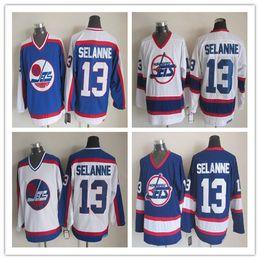 a8f74b23 ... NHL Ice Hockey Winnipeg Jets Jerseys CCM Vintage Throwback Teemu  Selanne Bobby Hull Dale Hawerchuk Laurie ...