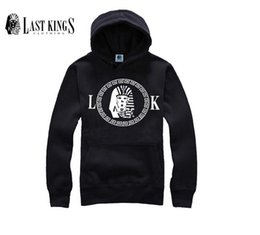 kings sweatshirts UK - free shipping Wholesale - Mens LK Thick Hoodies male Last Kings Sweatshirt Hoody for Men Cheap Sportswears