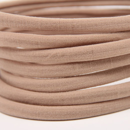 Wholesale thin pink elastic resale online - 12 colors available baby girls Nylon Headbands TAN NUDE Nylon hair band Baby Hairband Nylon Elastic Headbands Bulk Soft Thin Supply