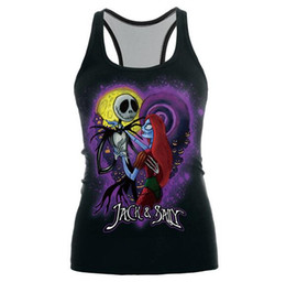 Halter Top Day Baratos-Ventas 3D Corps Novias zombie Halloween singlet Chaleco mal Joker Sanite'day Sleevelesss mujeres Tank tops Lady's sports Halter Camisoles