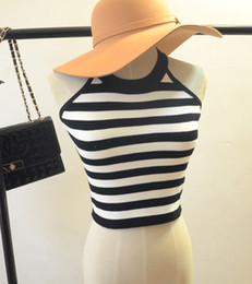 Wholesale knit sleeveless cardigan resale online - Ultrashort Tops Women Cardigan Slim Knitted Sweater Sleeveless Tank Tops undershirt Vest Tees Coat Ladies Fashion Outwear camisole Female