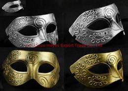 $enCountryForm.capitalKeyWord Canada - 2016 New Halloween Costume Ball Mask Rome Gladiator Masquerade Masks Retro Bronze And Silver Venetian Party Stage Prop