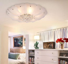 Simple Low Key Luxury Led Crystal Lamp Lotus Ceiling Ornaments Living Room Lights Bedroom 5pcs One Package