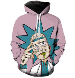 Nouvelle Veste De Mode Femme Pas Cher-Nouveau Mode Couples Hommes Femmes Unisexe Classique Scientifique de Bande Dessinée Rick et Morty 3D Imprimer Hoodies Chandail Sweat Veste Pull Top S-5XL