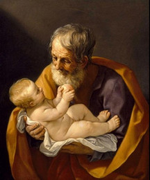 $enCountryForm.capitalKeyWord Canada - Salome Guido Reni - St. Joseph and baby Jesus,Pure Hand Painted Fine Art Oil Painting Canvas.any customized size accepted