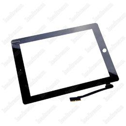 Digitizer tablet para ipad 2 3 4 preto e branco 9.7 polegadas touch screen painel de vidro digitalizador livre dhl em Promoção