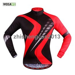 Quick Dry Shirts For Men Canada - WOSAWE Quick Dry Breathable Long Sleeve Cycling Jersey Spring & Autumn Bike Shirt Bicycle Wear Racing Riding Tops For Men