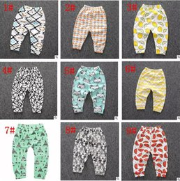 Cotton Pp Pants Canada - New Baby Toddler Boy Girl Cotton Lemon Leggings PP Pants Printed Pants Girl Fox Tights kids Trousers