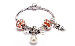 $enCountryForm.capitalKeyWord Canada - 1 pcs Free shipping The orange azure stone insets to drill the owl heart form metal alloy bracelet Crystal Bracelet