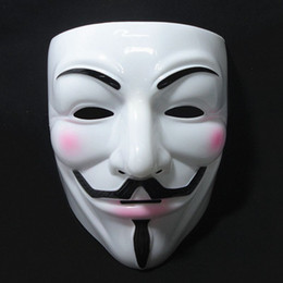 cheap masquerade masks v mask vendetta halloween mask party face halloween party mask super scary cosplay fancy 10pcs lot fast shipping - Scary Halloween Masks Images