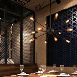 Satellite work online shopping - Satellite chandeliers Vintage wrought iron lights lamps restaurant light room Spherical Spider lamp E27 Edison pendant lighting Bar