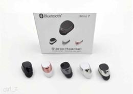 Lg Mini Audio NZ - Mini 7 S630 Wireless Stereo Headphones Audio headset Bluetooth 4.0 Sports Earphones Smart Cute In-Ear Bluetooth For iPhone 7 8 X