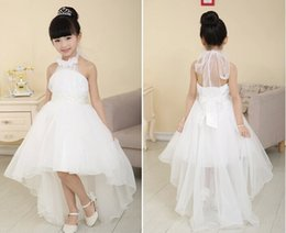 $enCountryForm.capitalKeyWord Canada - Hot Sell Flower Girl Dresses For Weddings Elegant Trailing Gown 3-12 Age Designer Flower Girl Gowns For Kids 2016
